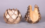 Fyrfad og vase af keramik (2)