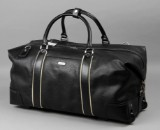 Apples. Rejsetaske i sort læder.