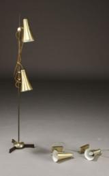 Vitrika, standerlampe samt par væglamper (3)