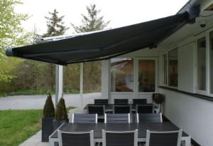 vare 2999983 markise vind sol sensor 4 5 meter polyesterdug hellukket alluminiumskasse. Black Bedroom Furniture Sets. Home Design Ideas