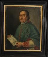 Porträtt av man i katolsk ämbetsdräkt, 1700-tal