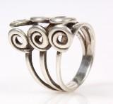 Unika ring af sterling sølv, vægt ca. 7,4 gram