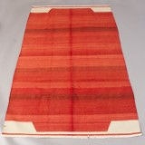 Anatolsk kelim, håndvævet, monokrome mønstre, ca. 261 x 161 cm