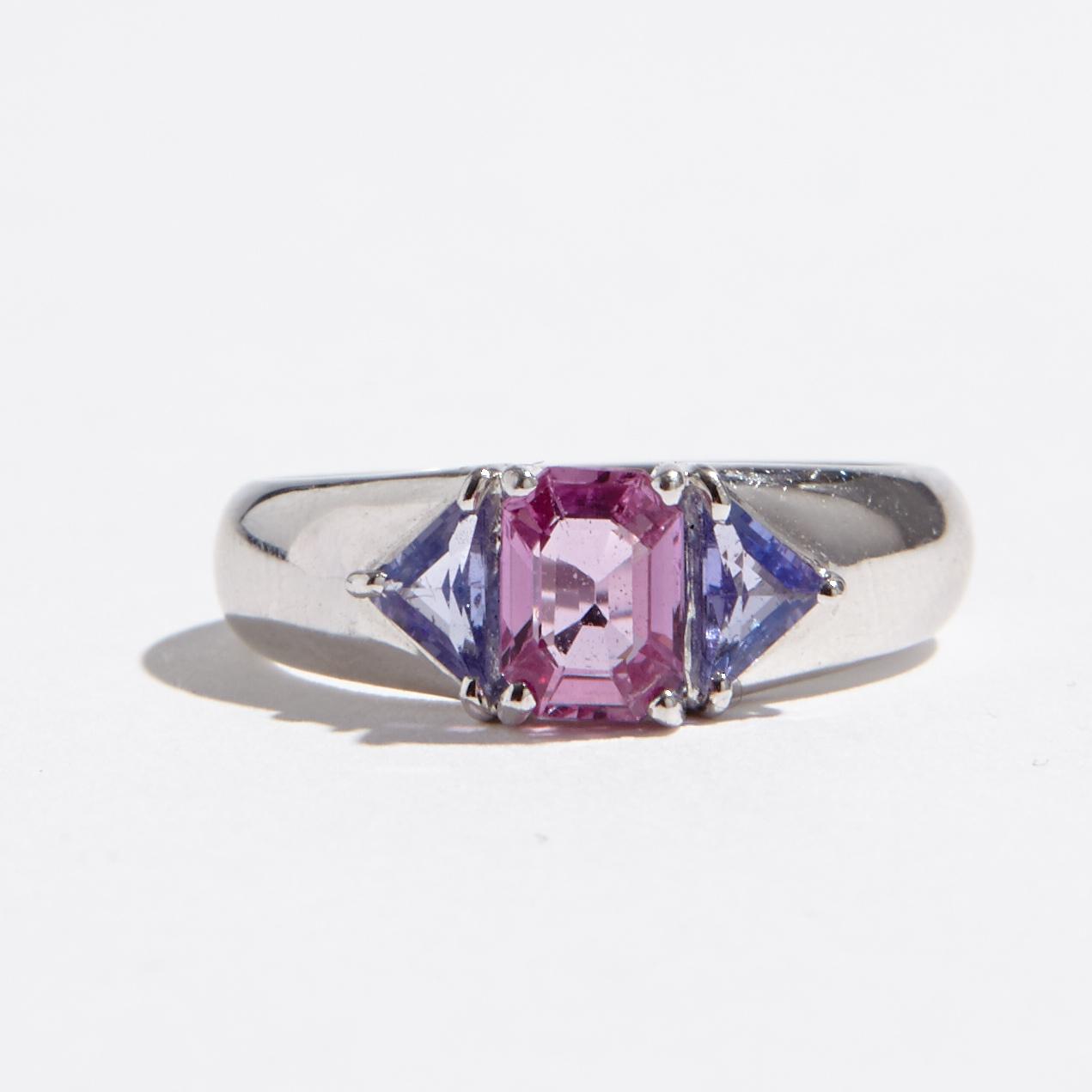rosa safir ring