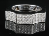 18kt diamond handmade ring approx. 0.65ct