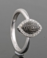 Diamond ring, 14kt. white gold, approx. 0.24ct