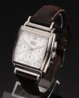 Zenith 'El Primero'. Men's chronograph, steel with white dial, c. 1995