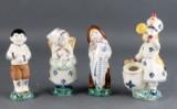 Herluf Jensenius for Aluminia. Fire Børnehjælpsdagsfigurer (4)