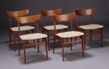 Dansk møbelproducent. Spisestole, teak (5)