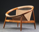 Illum Wikkelsø. Lounge chair, 'Ring chair' Model 23
