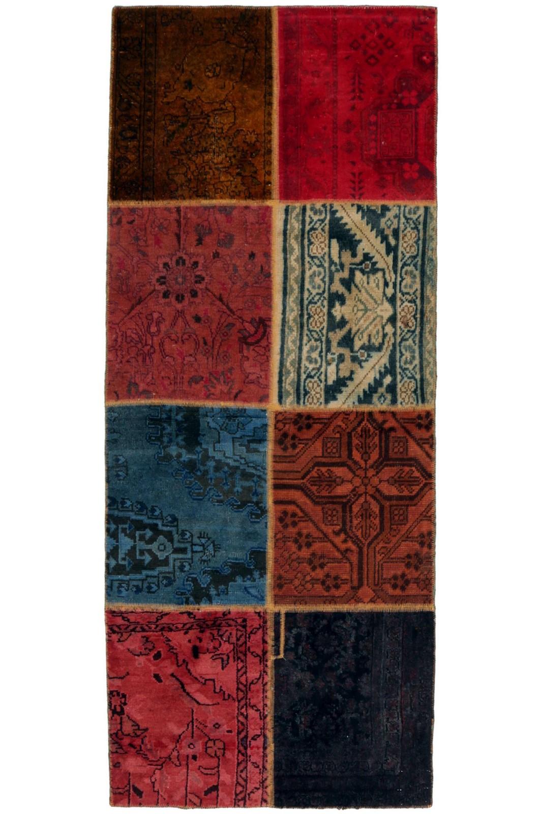 Persisk Patchwork løber, 203 x 83 cm - Persisk Patchwork løber, fremstillet af persiske vintage fragmenter. 203 x 83 cm
