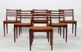 Erling Torvits. Six chairs in rosewood. (6)