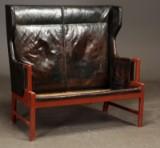 Palle Suenson und Hans J. Wegner (Letztgenanntem zugeschrieben). 2-Sitzer-Coupé-Sofa, 1940/1950er Jahre