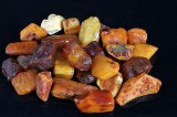 Danish amber. 10-30 g pieces. Weight approx. 412 g (28)