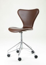 Arne Jacobsen. Office chair, model 3117, leather