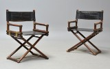 John & Elinor McGuire. Pair of director' chairs, 'X Chair' (2)
