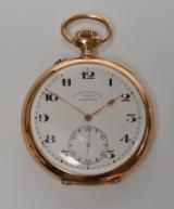 Glashütte. Präcisions Uhrenfabrik Alpina. A single-case men's pocket watch, 14 kt. gold