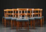 Kaare Klint. 12 'Ravenna' chairs, mahogany (12)