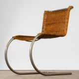 Ludwig Mies van der Rohe, chair / cantilever chair, model 'MR10', rattan, Germany, designed in 1927