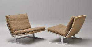 Preben Fabricius 1931-1984  Jørgen Kastholm 1931-2007. Par lounge hvilestole, model BO561 2