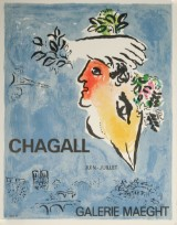 Marc Chagall, litografisk tryk, Galerie Maeght