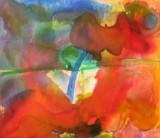 Gönül Sen-Menzel, akrylmaleri 'Ohne Titel'