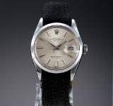 Vintage Rolex Date men's watch, steel, silver-coloured dial, c. 1971