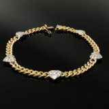 Brilliant cut diamond bracelet