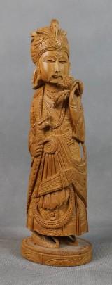 Holzschnitzerei eines indischen Maharadja