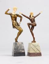 Skulpturer, 2 st, Art Deco-stil