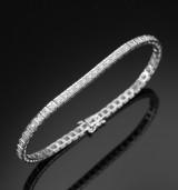 Tennis bracelet, 18 kt. white gold, total approx. 1.70 ct. H/VS