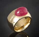 Tourmaline and brilliant-cut diamond ring approx. 10.00 ct. and 0.12 ct.