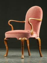 Jacob Hermann, attributed to. Mahogany armchair, c. 1940