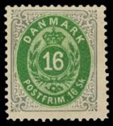 Samling DK. postfrisk/ustemplet m.m.