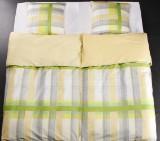 Fire komplette sengesæt i gaveæske, lime mønster, KEOPS COLLECTION (8 dele)