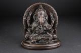 Tibetansk Ganesh figur af patineret bronze. 1900-tallet