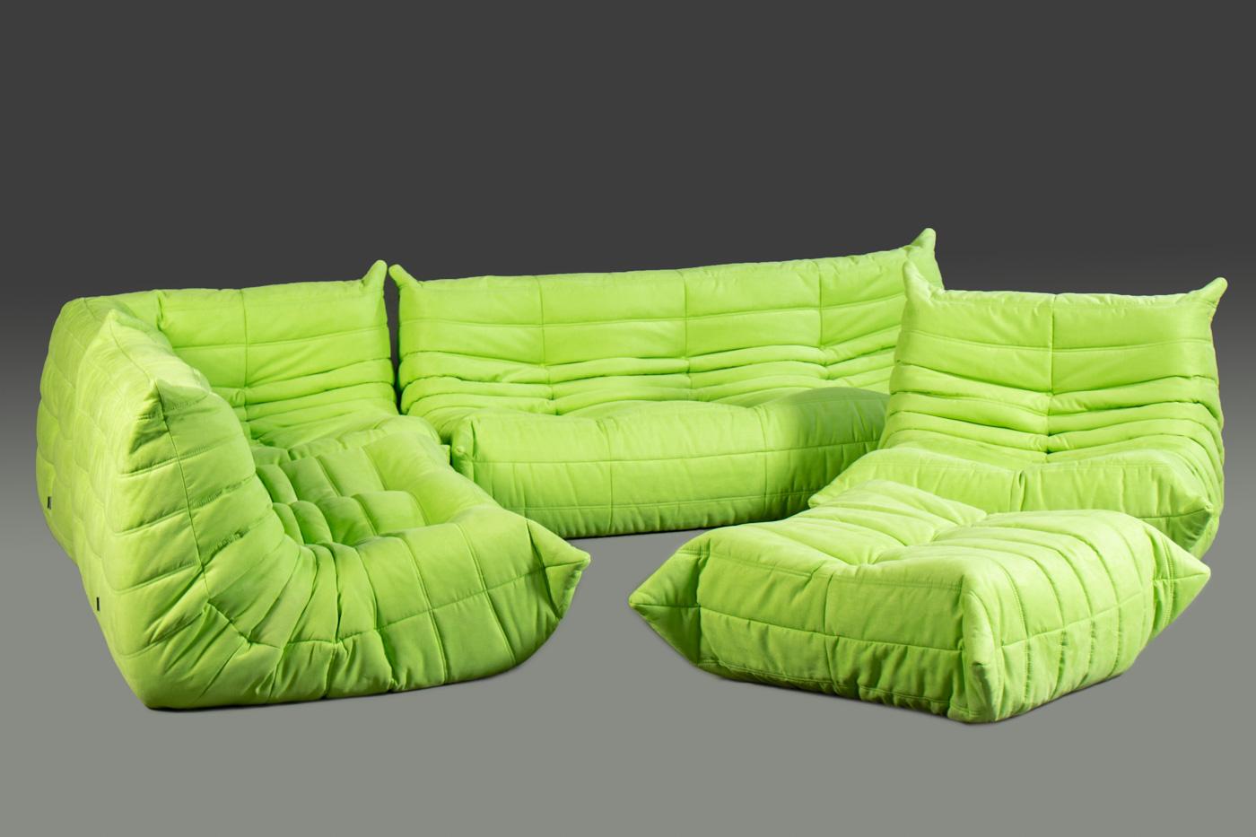 Auktionstipset Michel Ducaroy Togo Suite 5er Set In Lime Für