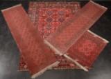 4 afghanske tæpper, håndknyttede (4)