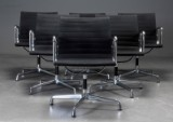 Charles Eames. Six armchairs from the Aluminium Group Series, model EA-108 (6)
