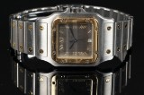 Cartier Santos herrearmbåndsur af 18 kt. guld og stål