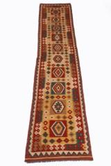 Teppich, Design Kelim Kaudani ca 402 x 77 cm