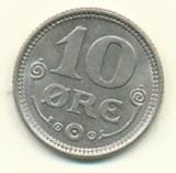 Danmark 10 øre 1923