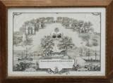Militært litografisk tryk fra 1880