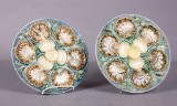 Rørstrand, par østersfade, fajance (2)
