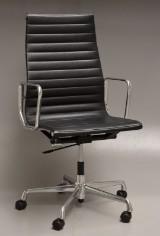 Charles Eames. Kontorstol, Model EA-119 'Full Leather'