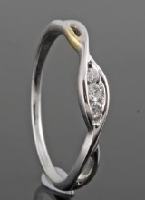 Diamond ring, 18kt. gold, approx. 0.07ct.