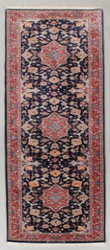 Persian Isfahan, hand-knotted carpet, 310 x 80 cm