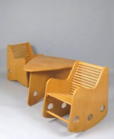 H. Mitzlaff & A. Lange, seating group with rocking chair from 1949 (3)