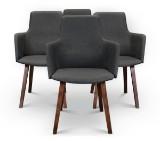 Niels Gammelgaard, 'Fortuna', fire stole, antracit / valnødsbejdsede ben (4)