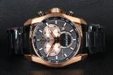 Bisset Of Switzerland. Gold/Black. Swiss made Herre Chronograph.